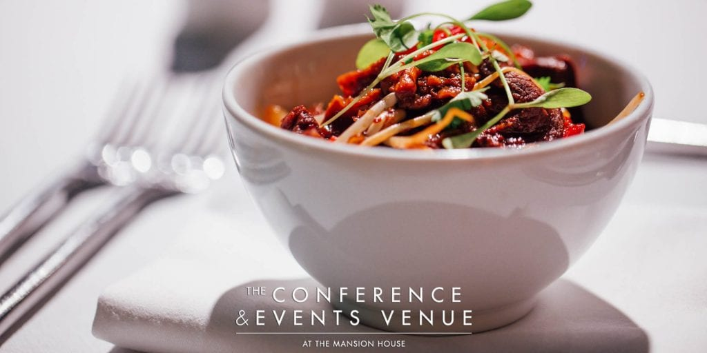 Food at the conference and events venue | Mansion House